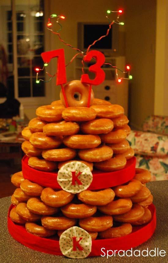 Krispy Kreme cake~I think I found my next birthday cake!