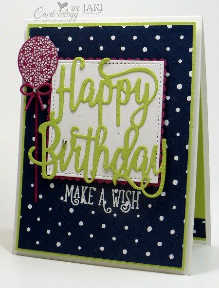 Stampin' Up! Happy Birthday Gorgeous-Cardiology by Jari