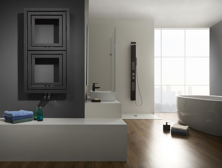 Radiator Libra Soft - Even without audio function Libra can look good in modern bathroom.