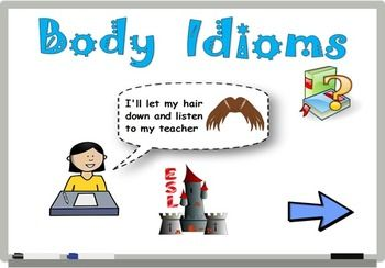 A flipchart to use with ActivInspire to teach English idiomatic expressions... The students will be involved in the learning process when they will have to go to the board and scratch the answer of their choice! Visit www.eslcastle.ca for more flipcharts and other activities!