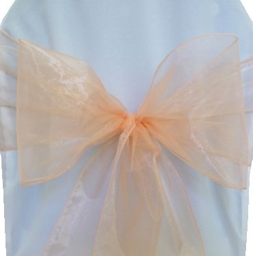 Organza Chair Sashes - Apricot / Peach 50531(10pcs/pk)