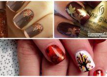 Diseños de uñas para Acción de Gracias