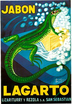1924 Lagarto soap vintage advertisement