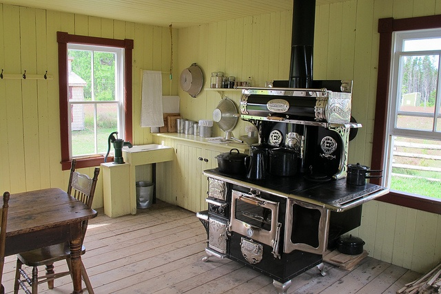 1920. Kitchen of Joseph Chiasson's farmhouse, Village Historique Acadien, Caraquet, New Brunswick, Canada by JarvisEye, via Flickr