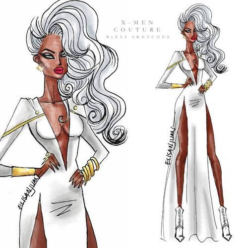 Image via We Heart It #drawing #fashion #storm #x-men #xmen #elisketches #elisketches
