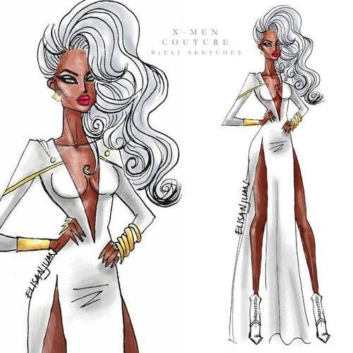 Image via We Heart It #drawing #fashion #storm #x-men #xmen #elisketches #elisketches