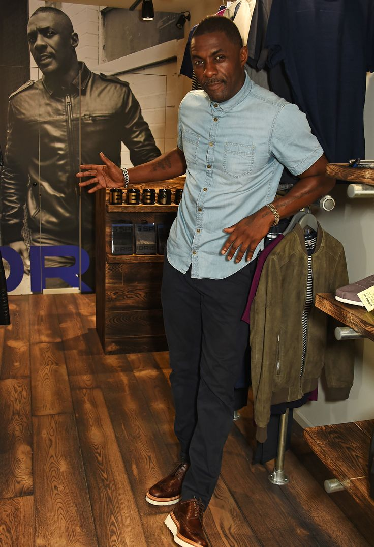 Idris elba superdry boxpark store in shoreditch london