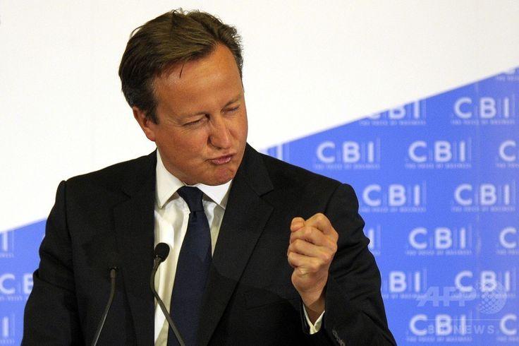 英スコットランド・グラスゴー(Glasgow)で英企業経営者らとの会合に出席し、スコットランドが英国にとどまる経済的利点をアピールするデービッド・キャメロン(David Cameron)英首相(2014年8月28日撮影)。(c)AFP/ANDY BUCHANAN ▼29Aug2014AFP|世論調査でスコットランド独立派が増加、英首相は残留の利点強調 http://www.afpbb.com/articles/-/3024431 #David_Cameron #Glasgow