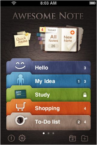 Awesome Note  #lists #ui #ux #iphoneapp