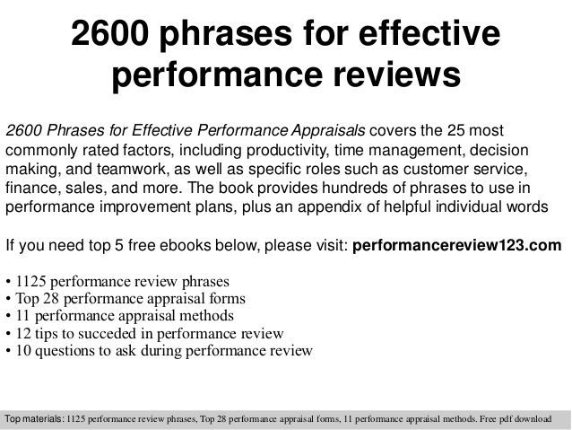 300+ performance review phrases. Connections Recruiting www ...