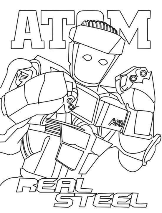 zeus real steel coloring pages | Steel Atom Real Steel Zeus Noisy Boy Original | Decor ...