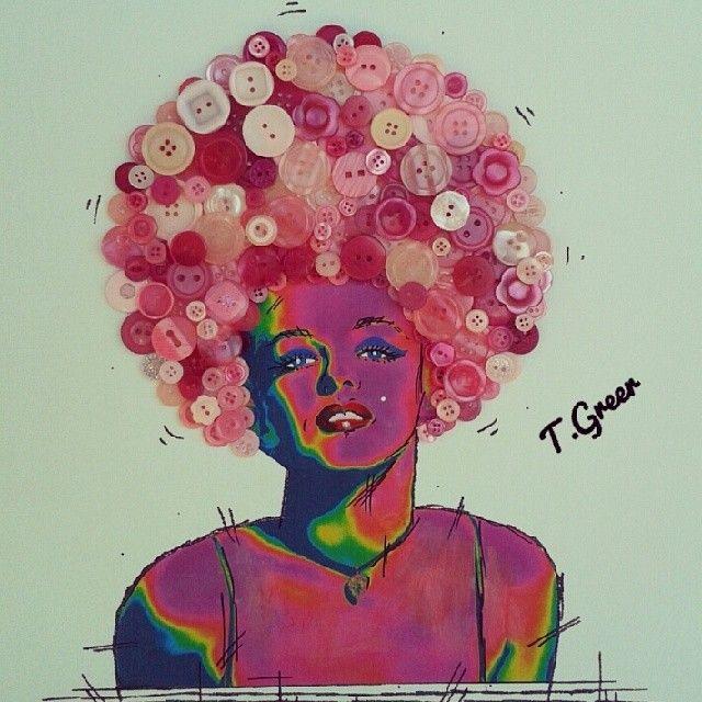 Pink Neon Button Head Monroe. #monroe #monroeart #positivity #hollywood #clasic #popart #andyworhol #iggyazalea #theellenshow #oprah #whitneyhouston #ladygaga #hepburn #happy #smile #tracygreerartist