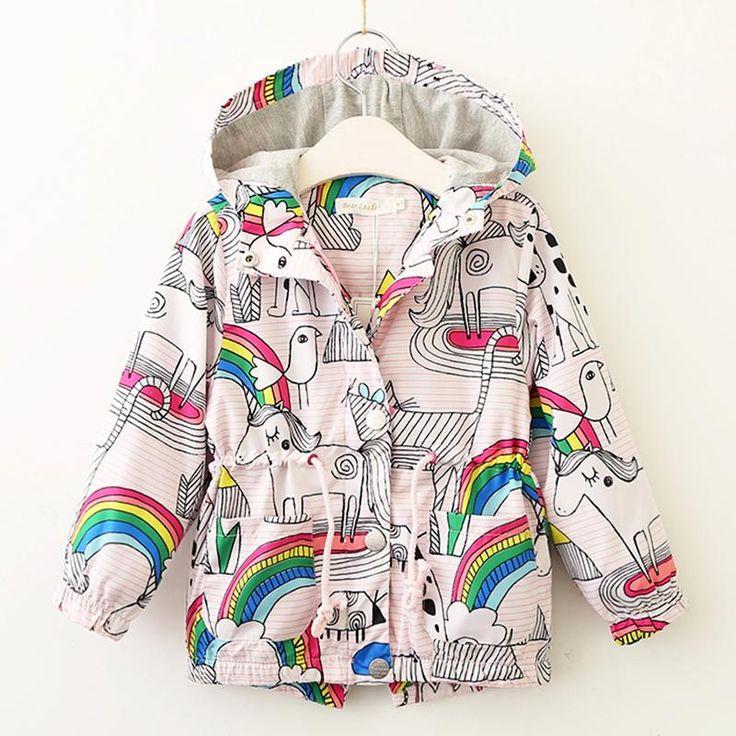 Keelorn Jackets&Coats 2017 Fashion Denim Jacket Vintage Jeans Coats Baby Denim Jackets Girls Jean Jacket Butterfly Embroidery