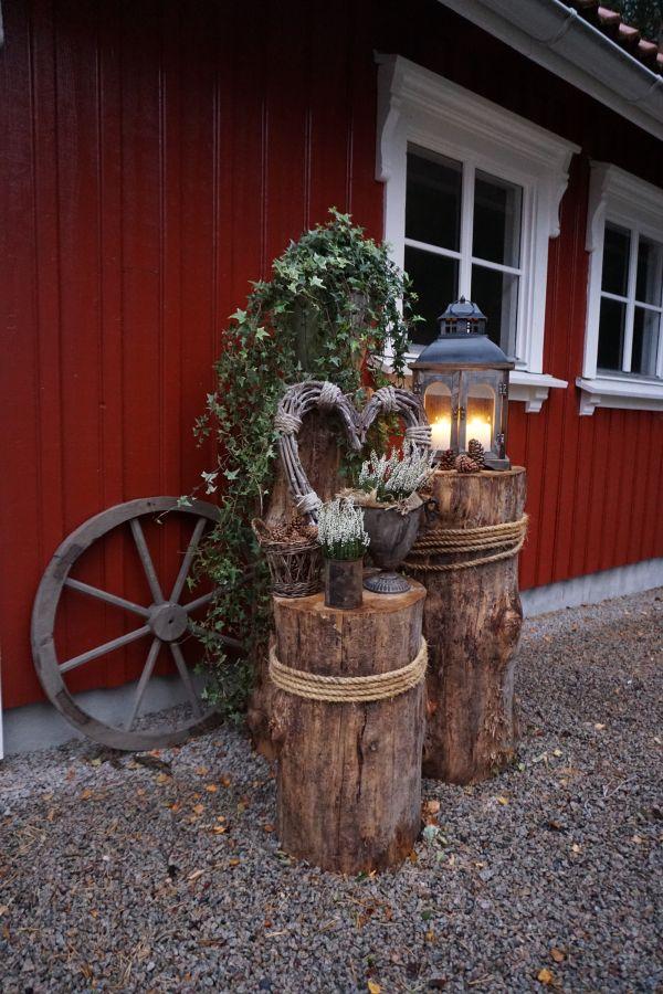 Tømmerstokker - gjenbruk - hage