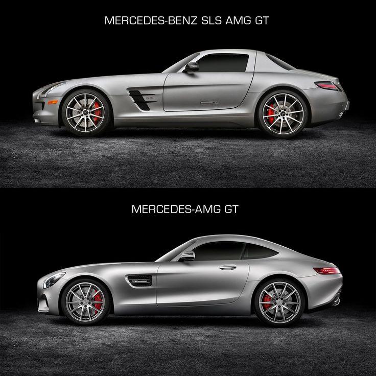 Mercedes-Benz SLS AMG GT and Mercedes-AMG GT - Design Comparison