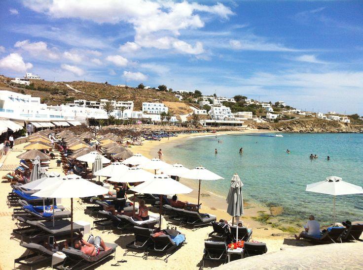 Platys Gialos Beach, Mykonos Island, Greece