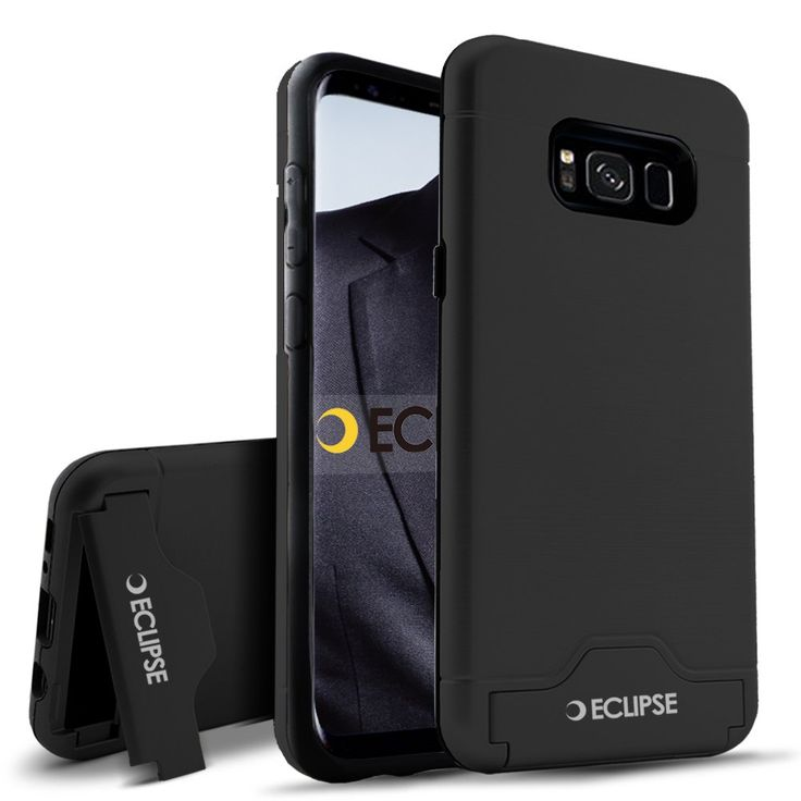 Samsung Galaxy S8 Rubber Case With Camera KickStand| Phone Cover With Card Storage| Shockproof & Scratch Resistant Protection of Mobile - Eclipse Legand. S8 galaxy case : This Samsung Galaxy S8 phone case is very easy to use.It's function keys can be easily operated with the cover on. You can also have colour options as it comes along with multicolour option. Sleek Design : It has a very sleek design and easy to handle. It is slim and also comes with a kickstand for you camera. You don't...