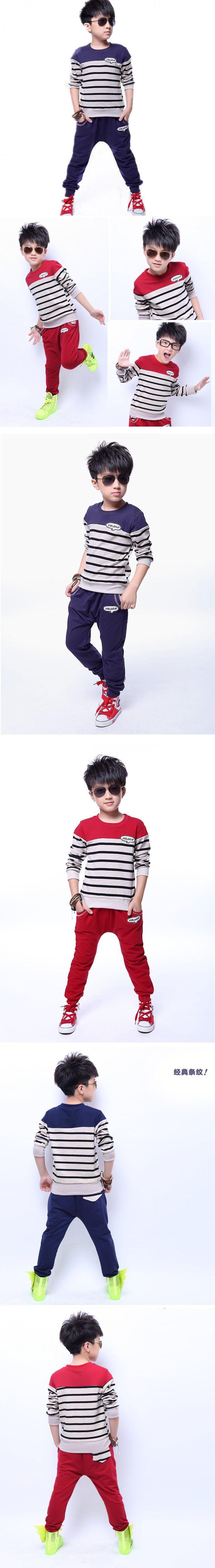 Brand Kids clothes set Teenage Boys Clothing roupas de menino sweatshirt pant boy tracksuit Children sport suit 6-14 age $19.99