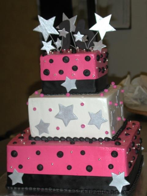 Starburst Tiered Birthday by Creative Cakes - Tinley Park, via Flickr