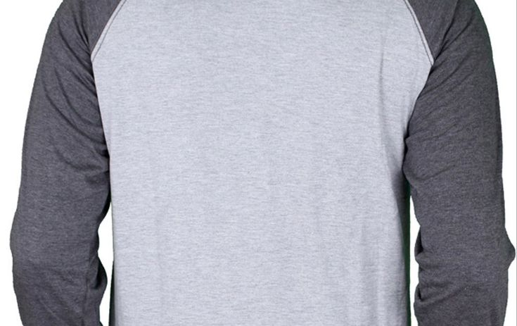 Mentahan Baju Polos Hitam Lengan Panjang Depan Belakang