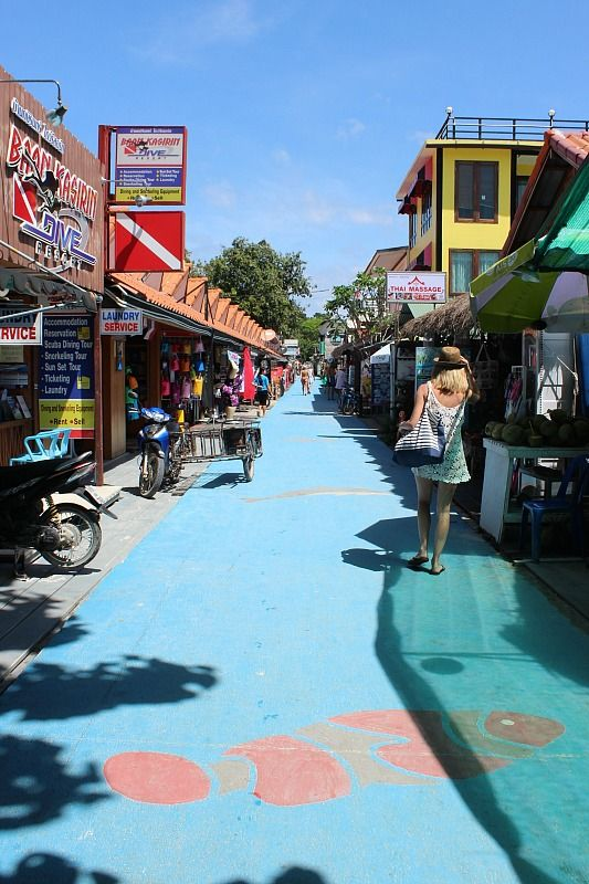 Walking Street Ko Lipe Ko Lipe: A real Thai paradise via The World on my Necklace