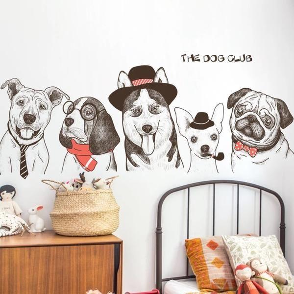 Dog Wall Decals Decoracion Con Vinilos Decoraciones De