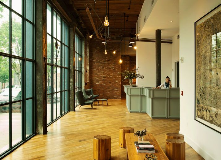 A Textile Factory is Converted Into The Wythe Hotel in Williamsburg, Brooklyn, NY | Yatzer