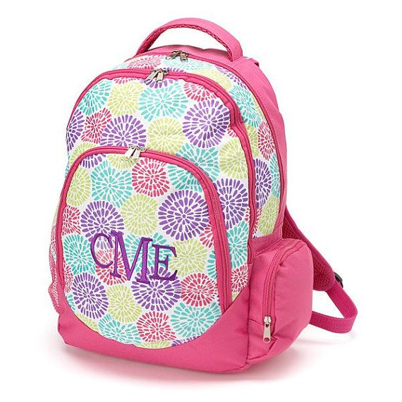 Monogrammed Bloom Backpack