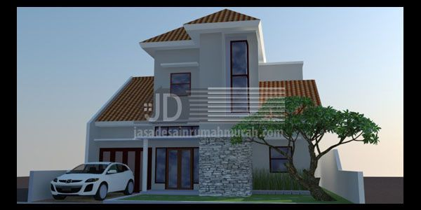 Rumah Bapak Endang di Bandung, Rumah minimalis 2 lantai