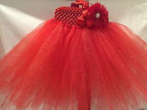 New Tutu Material Net Handmade Red Baby Party Wear Dress 12 to 18 Months | eBay