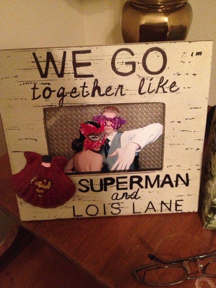Superman frame I made for my boyfriend who loves Superman