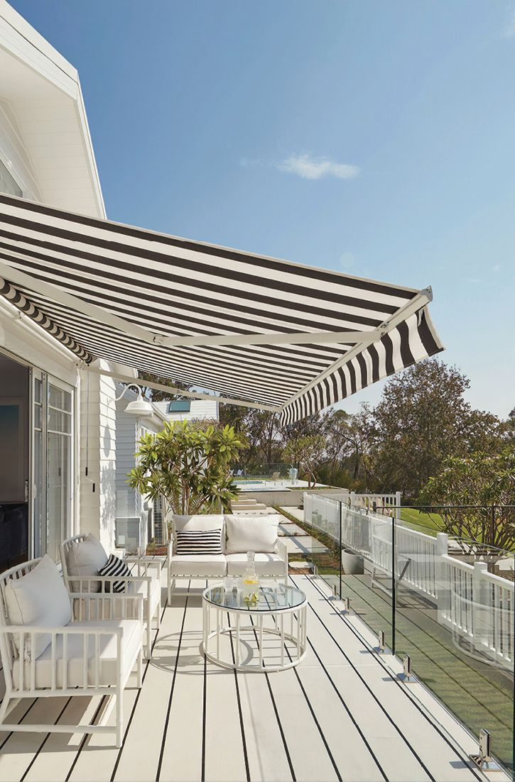 Luxaflex Te Ra Folding Arm Awnings In 2020 Awning Apartment Balcony Decorating Outdoor Settings