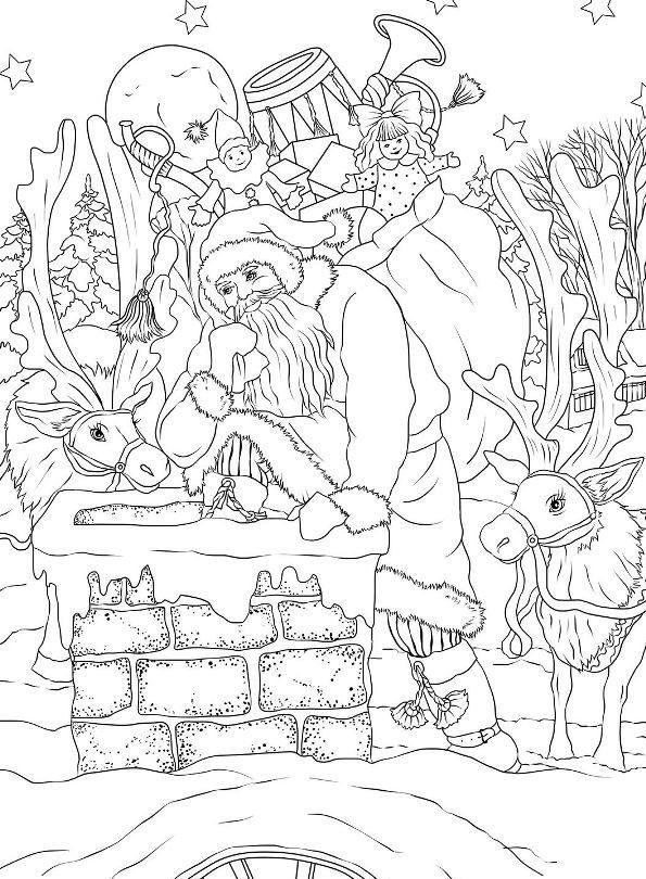 10 Coloring Pages Of Christmas Nostalgic Coloring Pages Free