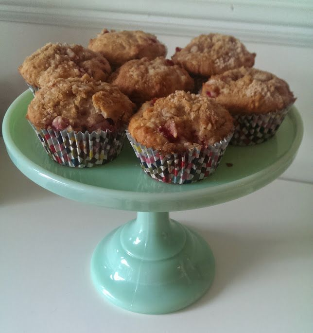 Strawberry-Rhubarb Mini Cakes a.k.a. Strawberry-Streusel Muffins ...