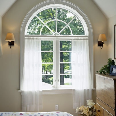 83 best window treatments images on pinterest shades for Arch window decoration