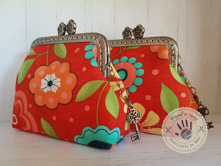 Springtime meadow purse, 8,5 cm by ManoFactured on Etsy