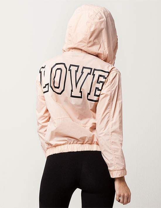 Miss Chievous Love Womens Windbreaker Jacket
