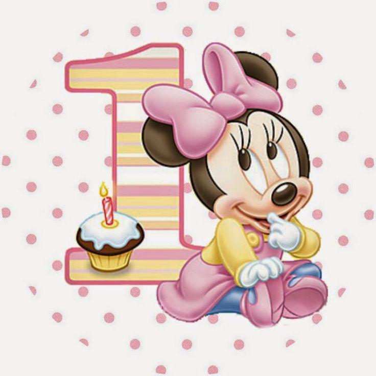 Minnie Primer Año con Lunares: Etiquetas para Candy Bar para Imprimir Gratis.