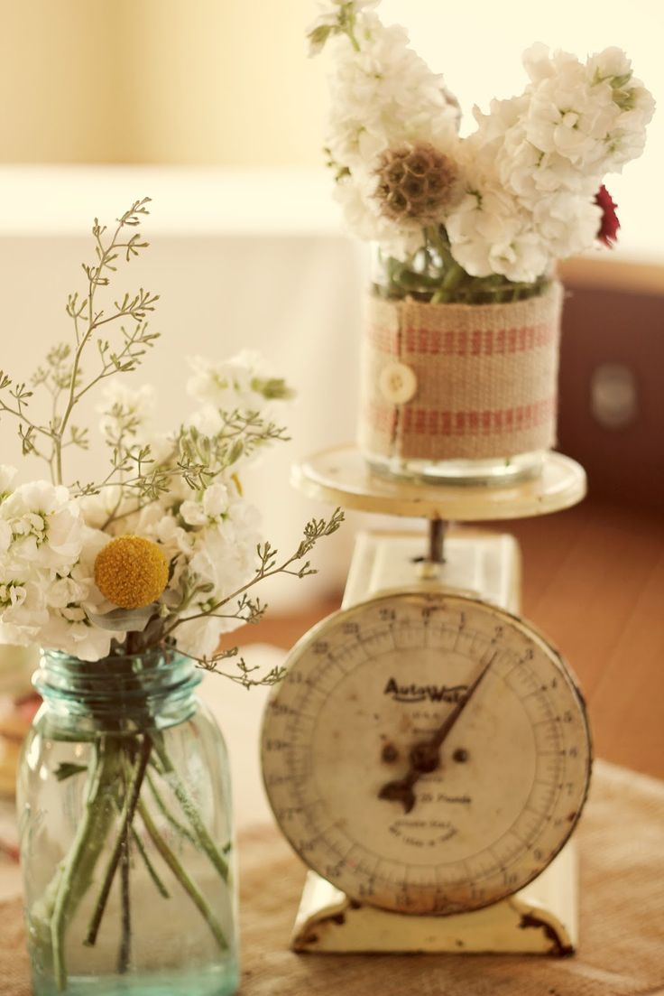 Whimsy Wedding Decor With Vintage Scale Vintage Scales