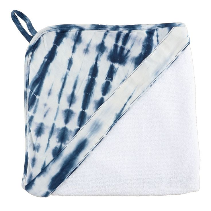 Indigo Shibori Hooded Towel. Bath and swim time has never looked so cute with our bold print hooded towels. Made from a super soft terry towel complete with a 100% cotton hood. www.wildandbliss.com