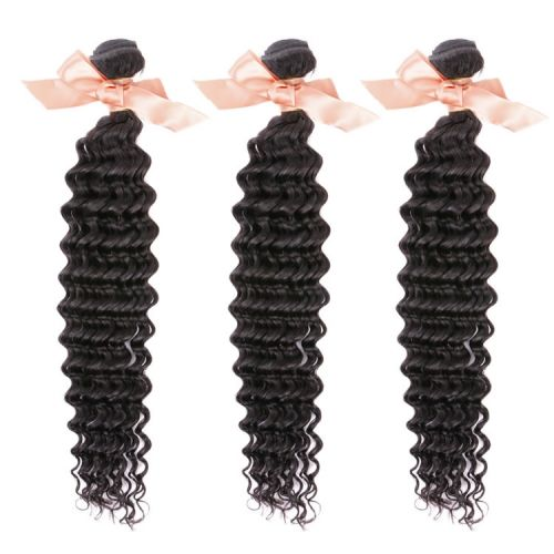 Malaysian Deep Wave Virgin Remy Hair Extensions 16 Inch to 28 Inch Natural Black 100g $118.5