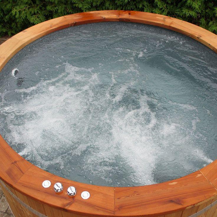 Garten whirlpool, Garten Jacuzzi, Aussen whirlpool, Hot Tub mit Sprudel,  Badetonne mit Massageduesen | Badezuber | Pinterest | Schwimmbäder,