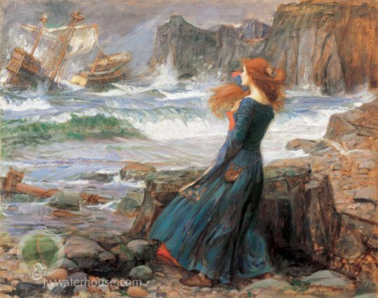 """Miranda - The Tempest"" John W. Waterhouse. 1916.  I have always loved this painting for some reason, can't quite put my finger on it..;)"