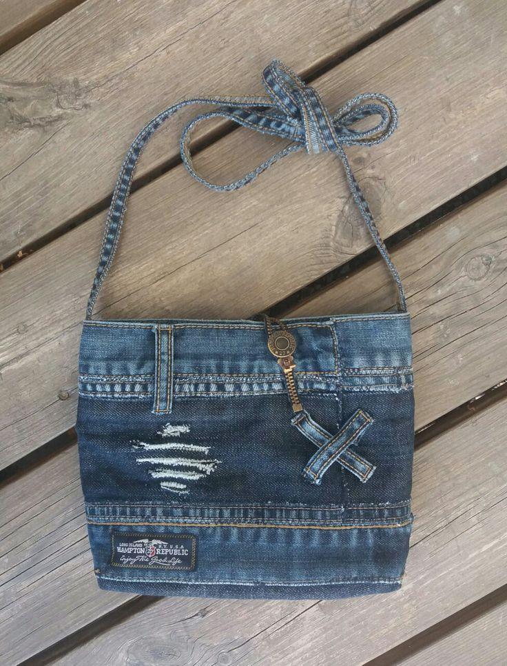Handbag recycled denim; MannaDsign