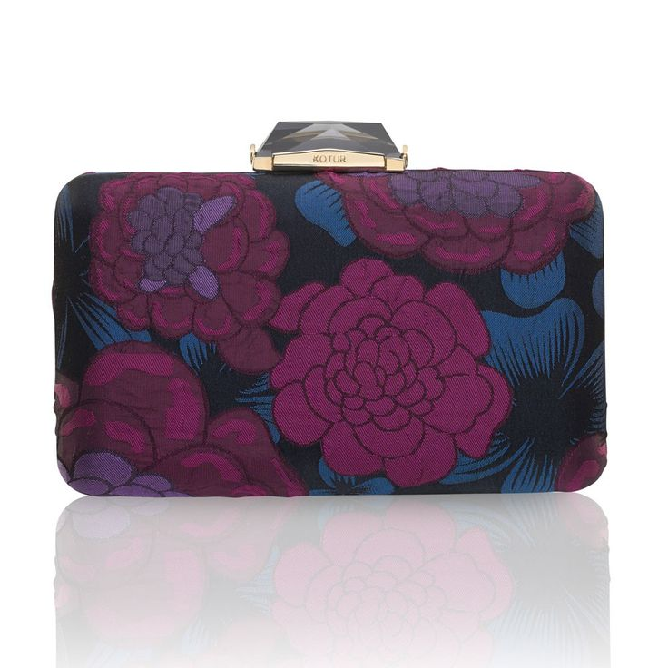 Leather Statement Clutch - Abstract Casino 7 by VIDA VIDA A17pl