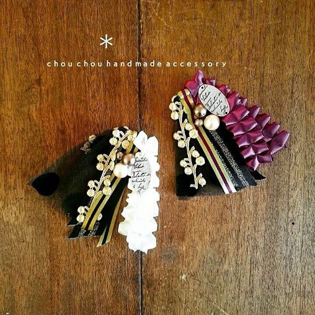 #Handmade #Miscellaneous goods #ハンドメイド #手作り #鹿児島 #美容室 #chouchou #ブローチ
