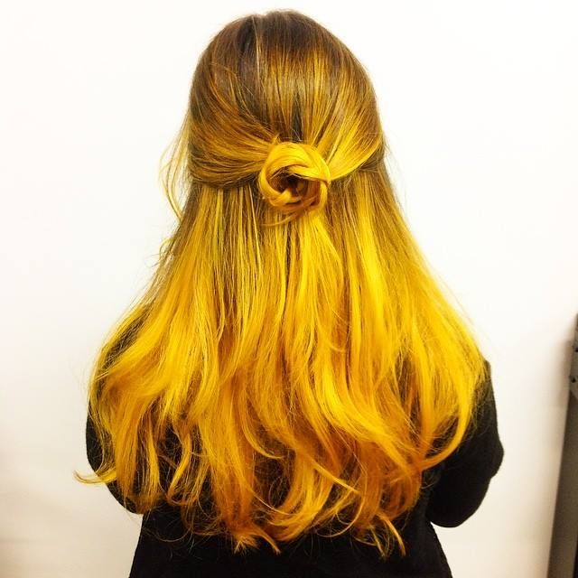 Super cool mustard #ombre by @whyjohnny on Instagram created with Joico Color Intensity #Yellow.