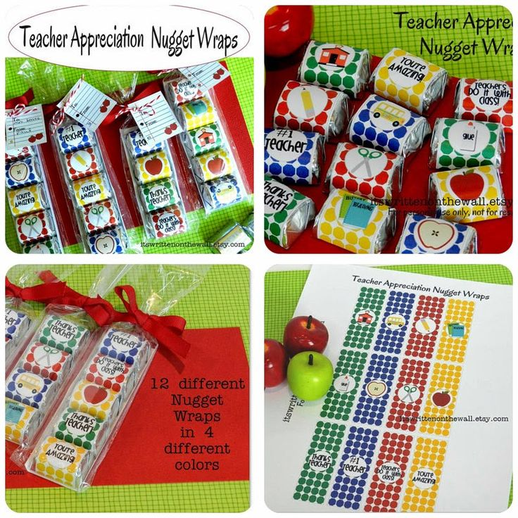 Nugget Gift Ideas Apparel: Teacher Appreciation Hershey Nugget Candy Wraps #Crafts