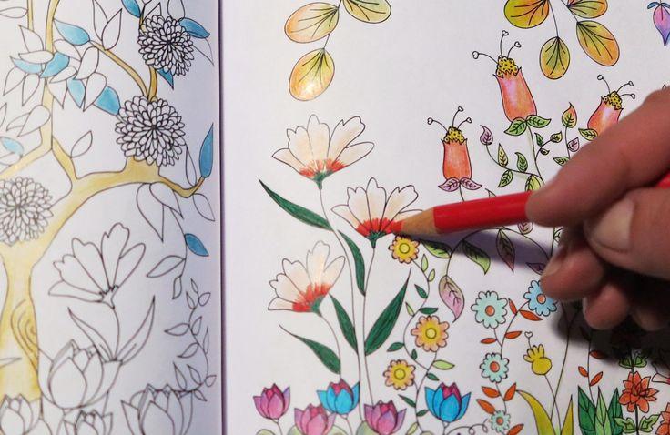 Florece. Un libro para colorear un montón de flores hermosas