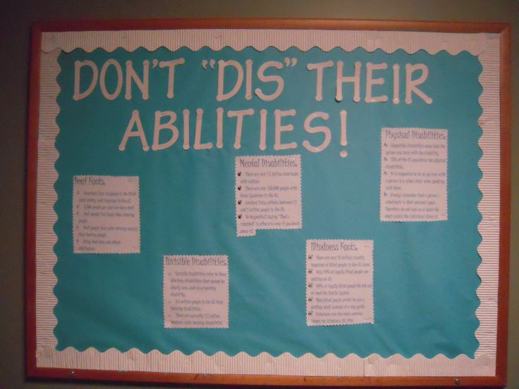 Disabilities Awareness board!